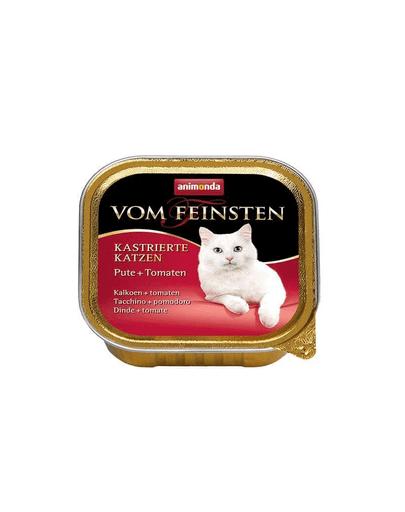 ANIMONDA Vom Feinsten Pisici Castrate Curcan și Roșii 100 g imagine