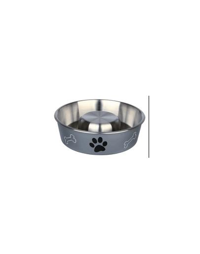 TRIXIE Bol din oțel inoxidabil pentru încetinirea hrănirii 1,4 l/21 cm imagine