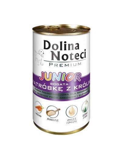 DOLINA NOTECI Premium Junior bogat în ficat cu iepure 400 g