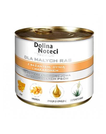 DOLINA NOTECI Premium talie mică cu fazan dovleac și tăiței 185 g