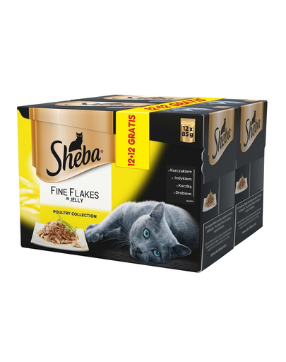 SHEBA Delicacy in Jelly pasăre 85g 12+12