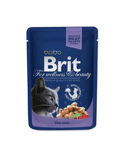 BRIT Premium Cat Adult pește cod 100 g