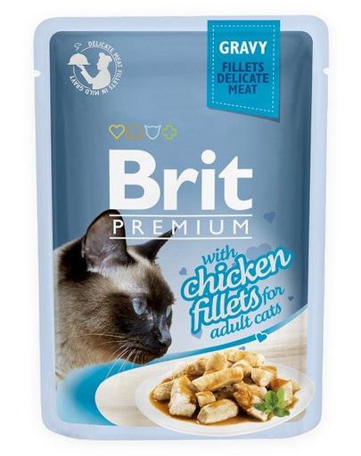 BRIT Premium Cat Fillets in Gravy pui 85 g