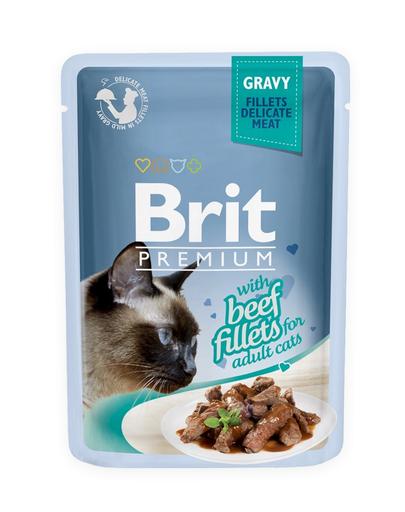 BRIT Premium Cat Fillets in Gravy vită 85 g imagine