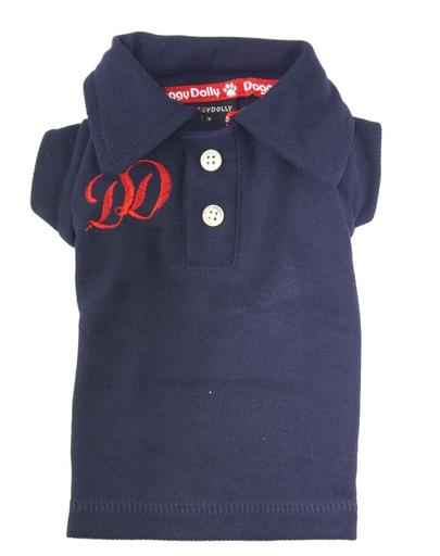 Doggy Dolly Tricou Polo Dd, Albastru-inchis, M 28-30 Cm/41-43 Cm