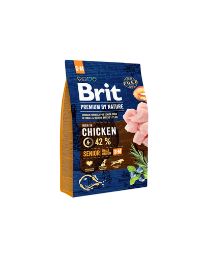 BRIT Premium By Nature Senior Small Medium S+M 3 kg imagine