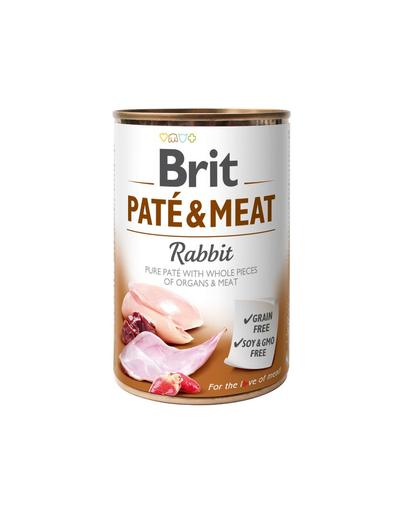 BRIT Pate & meat rabbit 400 g imagine