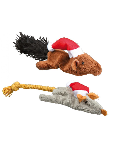 TRIXIE Jucărie pentru pisici, tematică de Crăciun 14–17 cm