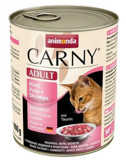 ANIMONDA Carny Adult Vită, Curcan și Creveți 800 g imagine
