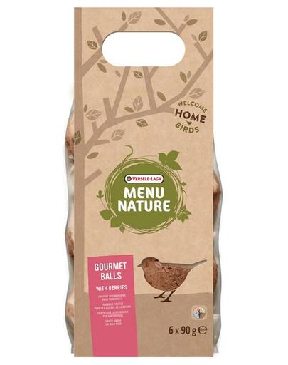 VERSELE-LAGA Gourmet Balls- Bile de hrană pentru păsări sălbatice, cu fructe de pădure 6 buc. 540 g imagine