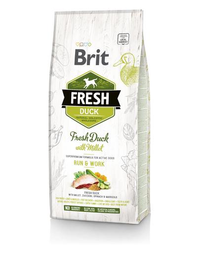 BRIT Fresh Active Run&Work Hrană uscată cu rață și mei 2,5 kg imagine