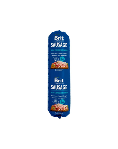Brit Sausage Cu Pui Si Miel 800 G