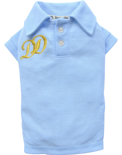 Doggy Dolly Tricou Polo Dd, Albastru-deschis, Xxl 36-38 Cm/56-58 Cm