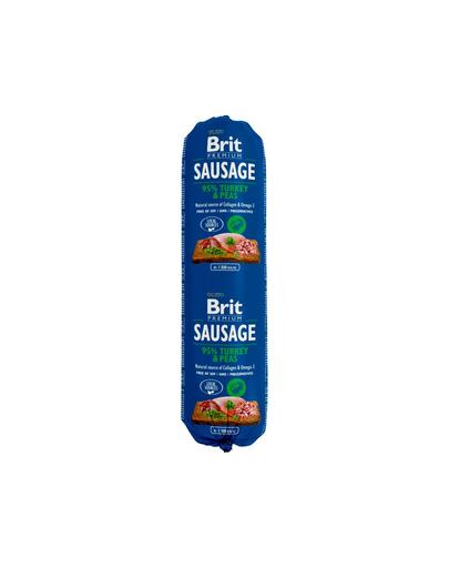Brit Sausage Cu Pui, Curcan Si Mazare 800 G