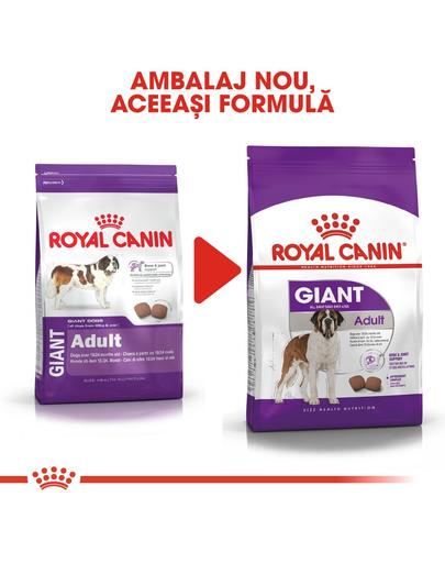 Royal Canin Giant Adult Hrană Uscată Câine 15 kg + 3 kg