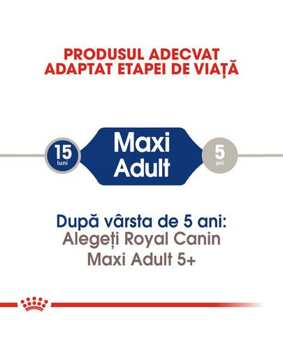 Royal Canin Maxi Adult Hrană Uscată Câine 15 kg + 3 kg