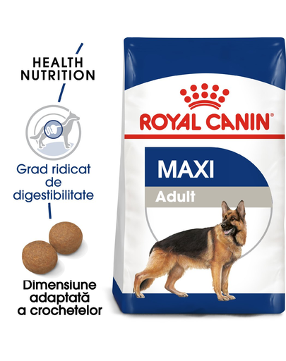 Royal Canin Maxi Adult Hrană Uscată Câine 15 kg + 3 kg imagine