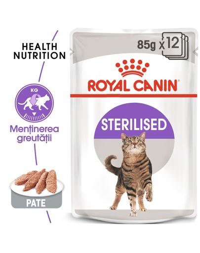 Royal Canin Sterilised Loaf Adult hrana umeda pate pentru pisica sterilizata, 12 x 85 g imagine