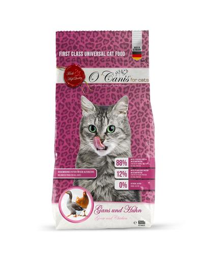 O'canis Hrana Uscata Pentru Pisici Cu Gasca Si Pui 600 G