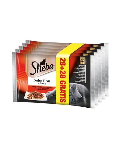 SHEBA Selection Varietate de Carne în Sos 85 g (28 + 28) imagine