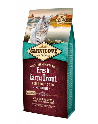 CARNILOVE Adult Sterilised Fresh crap și păstrăv 6 kg imagine