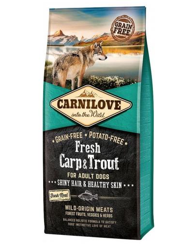 Carnilove Adult - Hrană Uscată Pentru Câini Cu Păstrăv Și Crap Proaspăt 12 Kg imagine