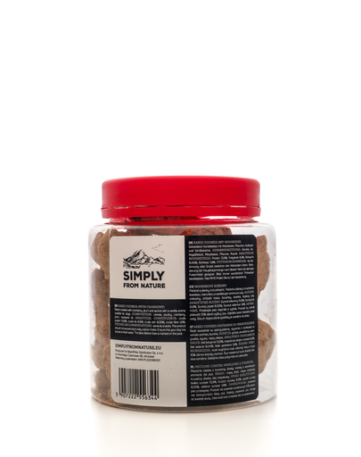 SIMPLY FROM NATURE Baked Cookies cu merișoare 220 g