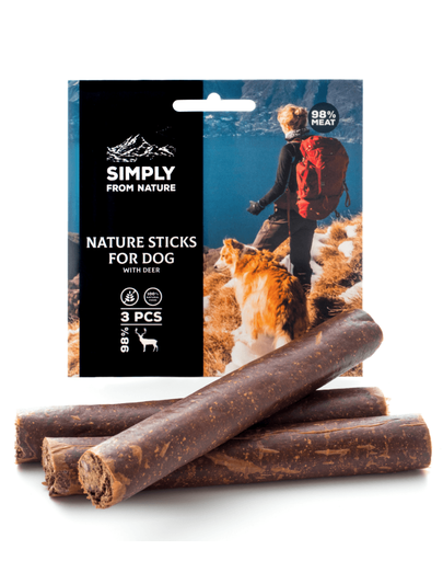 Simply From Nature Nature Sticks Cu Carne De Caprioara 3 Buc.