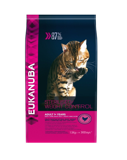 EUKANUBA Cat Veterinary Diets Dryweight Diabetic Control Adult All Breeds 1.5 kg