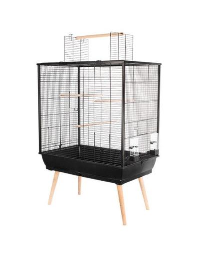 ZOLUX Cușcă Neo JILI pentru păsări H80 negru imagine