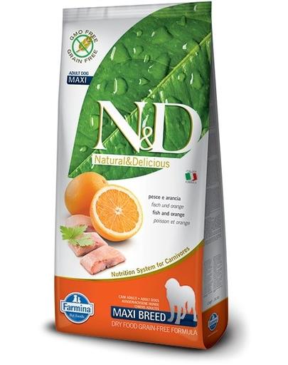 Farmina N&d Adult Maxi - Hrana Uscata Pentru Caini Cu Peste Si Portocale 12 Kg