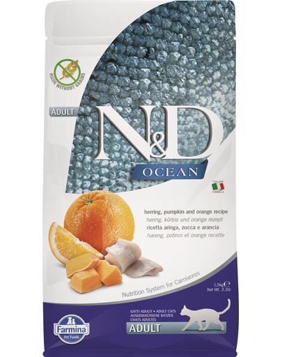 FARMINA N&D Ocean Adult cu hering, dovleac și portocale 1,5 kg imagine
