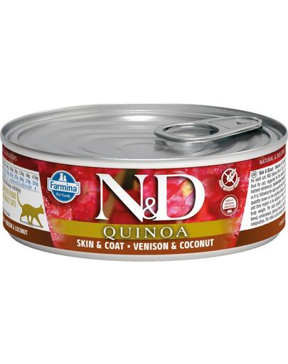 FARMINA N&D Hrană pentru pisici adulte - quinoa, vânat & cocos - 80 g imagine