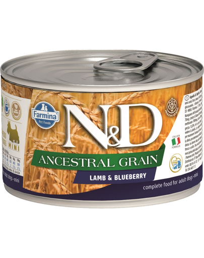 Farmina N&d Dog Ancestral Grain Lamb & Blueberry Mini 140 G