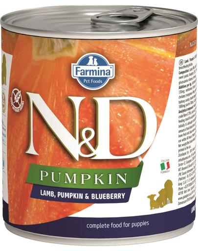 FARMINA N&D Hrană pentru cățeluși - dovleac, miel și afine - 285 g imagine