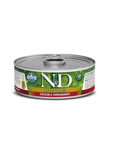 FARMINA N&D PRIME Chicken & Pomegranate Kitten Canned 80g imagine