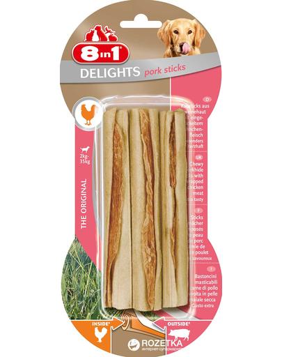 8IN1 Delights - Delicatesă cu aromă de porc 3 bucăți imagine