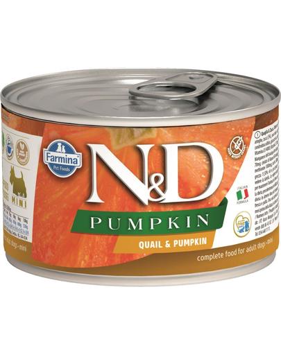 FARMINA N&D Pumpkin - Hrană umedă pentru câini cu dovleac și prepeliță 140 g imagine