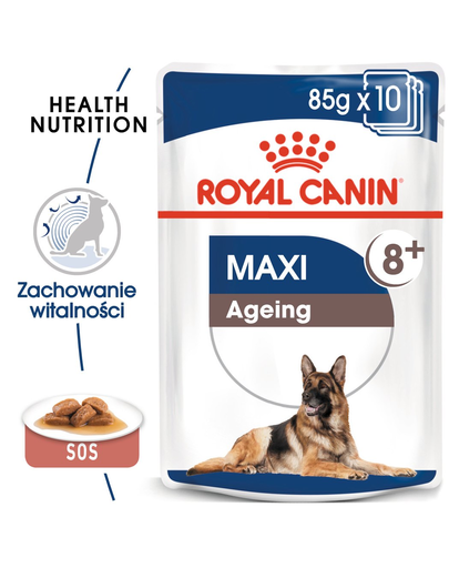 Royal Canin Maxi Ageing hrana umeda caine senior, 10 x 140 g