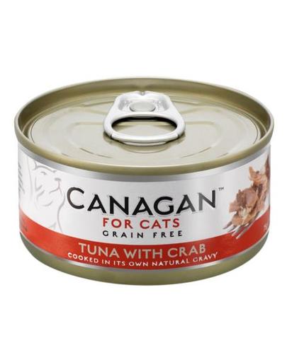CANAGAN Cat cu ton și crabi 75 g imagine