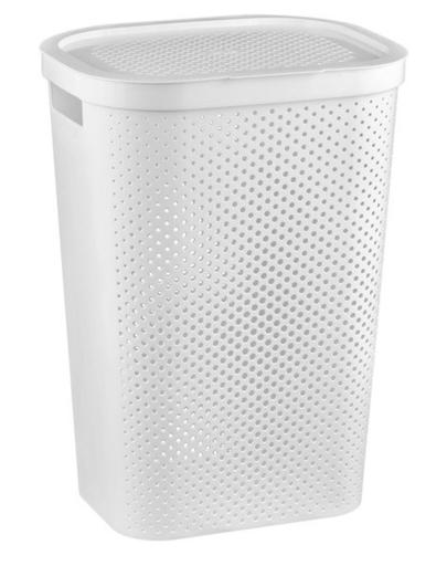 CURVER Coș haine INFINITY reciclat 60 L alb imagine
