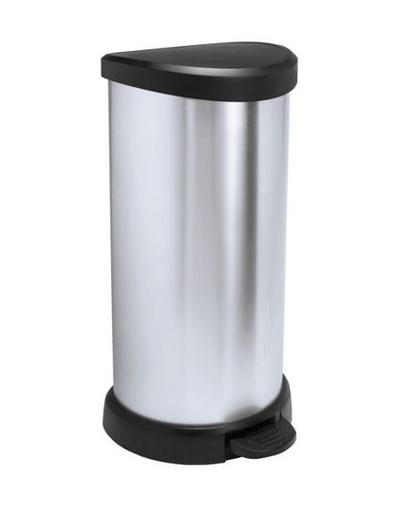 CURVER Coș de gunoi cu pedală 40 L negru/argintiu metalizat imagine