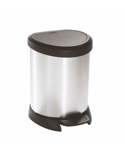 CURVER Coș de gunoi 5 L negru/argintiu metalizat imagine