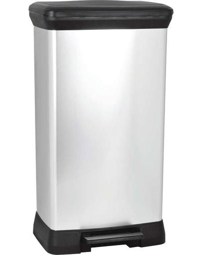 CURVER Coș de gunoi DECO BIN 30 L negru/argintiu metalizat imagine