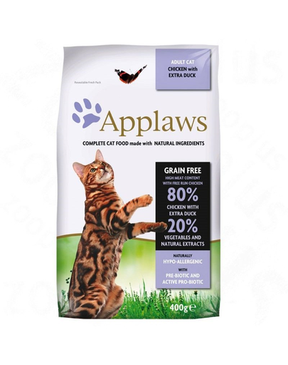 APPLAWS Hrană uscată pentru pisici adulte cu pui și rață 2 kg imagine