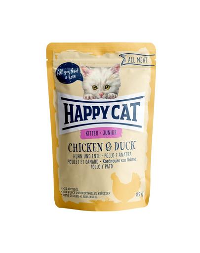 HAPPY CAT All Meat Junior, pui și rață 85 gr imagine