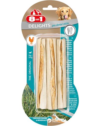8IN1 Recompense Dental Delights Bone Sticks 3 buc. imagine