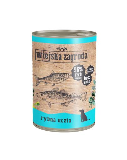 WIEJSKA ZAGRODA hrană umedă fără cereale, cu pește 400 gr imagine