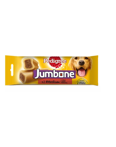PEDIGREE Jumbone cu vită pentru câini de talie medie 12 x 180 gr imagine