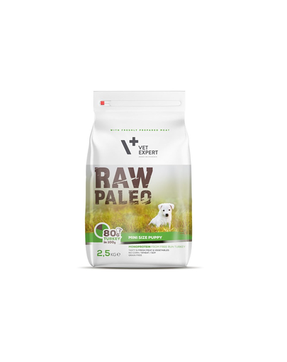 VETEXPERT RAW PALEO Puppy Mini cu carne de curcan 2,5 kg imagine